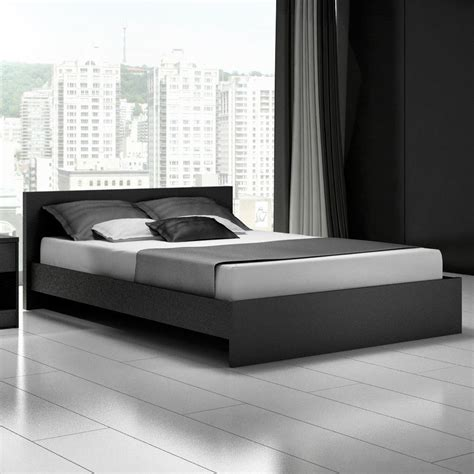 modern bed frames modern black platform bed frame cool designs
