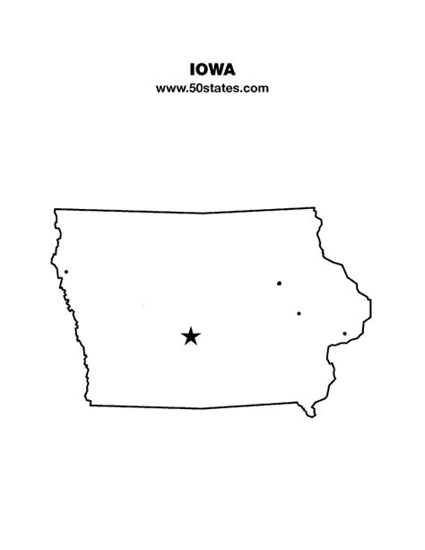printable map iowa iowa map