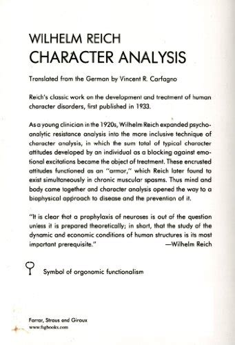 sle character analysis libro character analysis di wilhelm reich