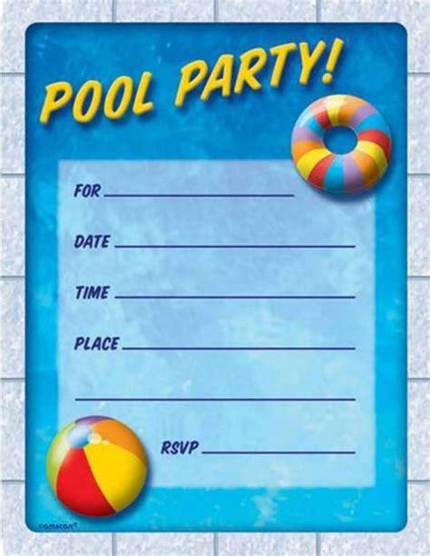 free printable birthday pool party invitations drevio invitations