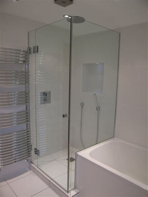 bath with shower cubicle bath shower screens made to measure bespoke bath