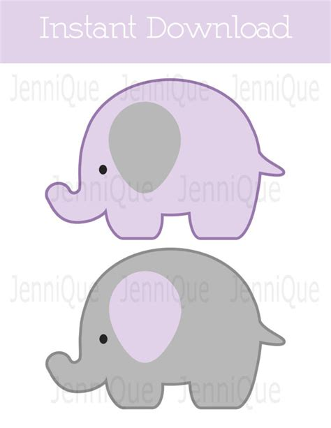 elephant template for baby shower printable elephant decor elephant baby shower decoration