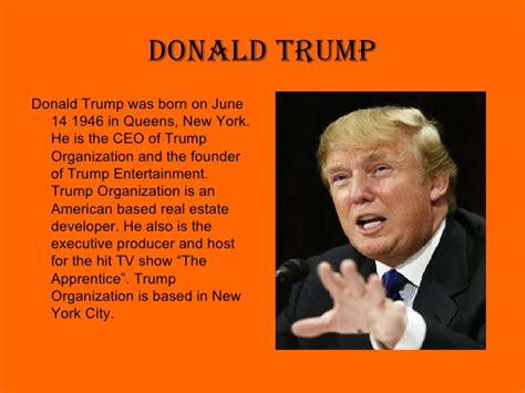 biography of trump donald trump