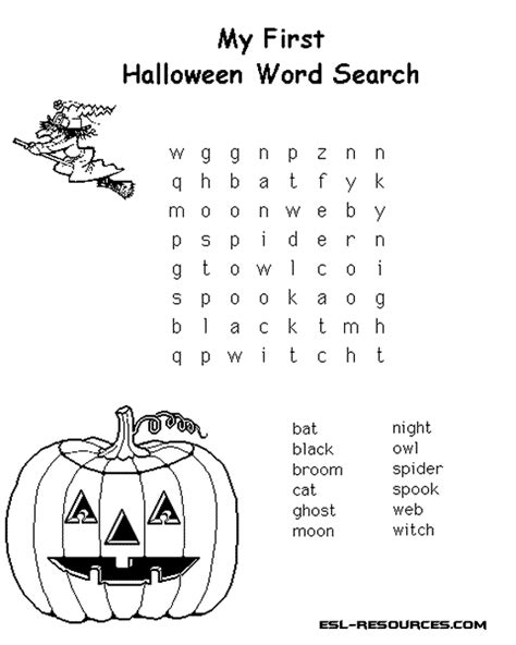 halloween coloring pages word searches 5 halloween word search printable