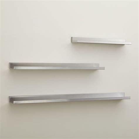 davis 24 quot brushed silver wall shelf in shelves shelving