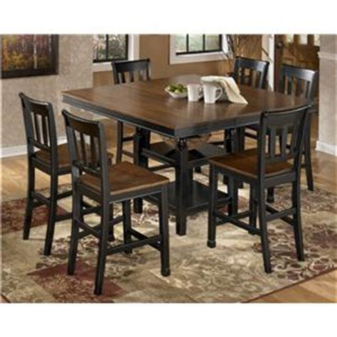 buy ashley furniture owingsville round dining room table set bringithomefurniture com signature design by ashley owingsville two tone dining