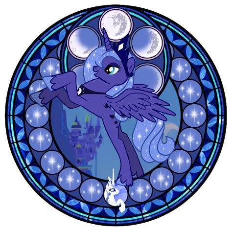 mlp nightmare moon stained glass stained glass luna wip by akili amethyst on deviantart