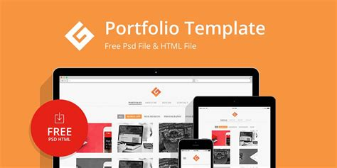 Free Portfolio Website Templates Psd 187 Css Author Course Portfolio Template