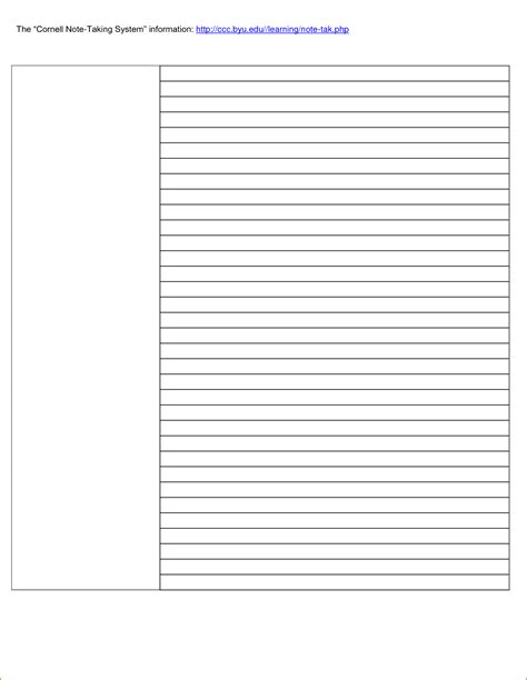 6 Note Template Teknoswitch Note Taking Template Word