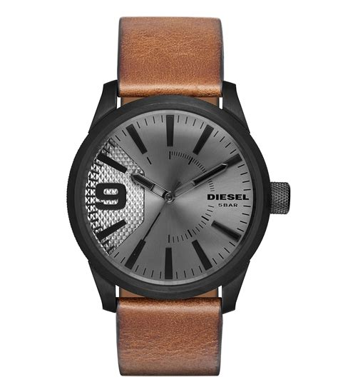 Diesel Leather Brown diesel s rasp light brown leather 46x53mm dz1764 in brown for save 25 lyst