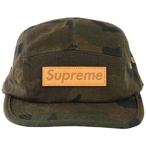 louis vuitton supreme x limited edition 5 panels camouflage cap for sale at 1stdibs