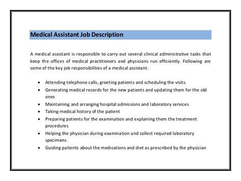 medical assistant resume job duties medical assistant mid