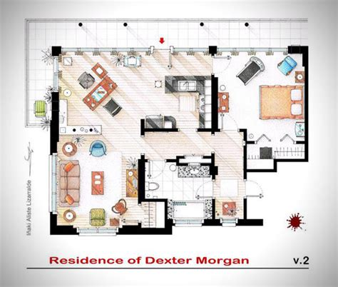 famous floor plans famous television show home floor plans hiconsumption