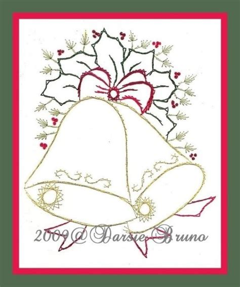 Free Papers For Card - bells and paper embroidery pattern for