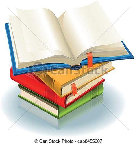 libri clipart aperto segnalibro illustrazione uno elegante libro