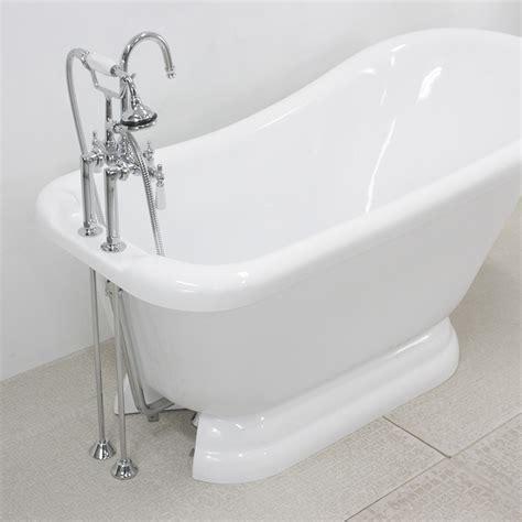 slipper pedestal tub 59 quot single slipper pedestal tub and faucet package