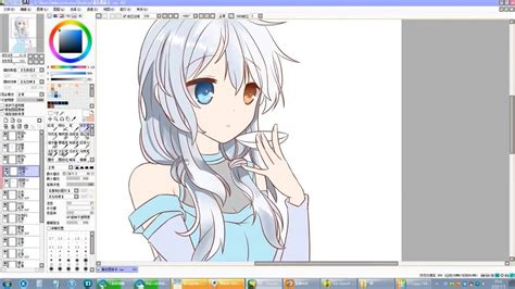 paint tool sai speed drawing sai anime speed drawing use sai paint tool