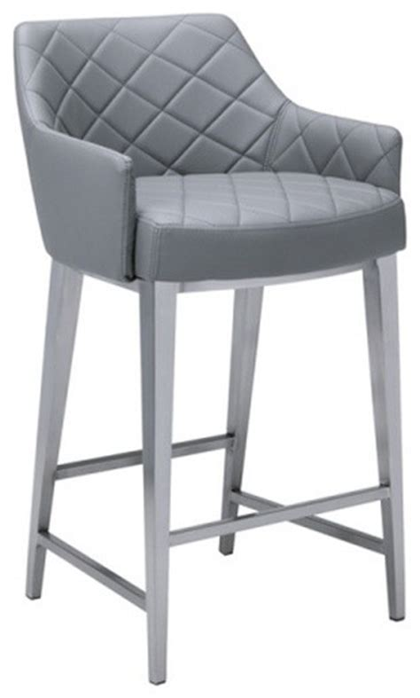 Grey Leather Counter Height Bar Stools by Sleek Faux Leather Stool Gray Bar Height 30