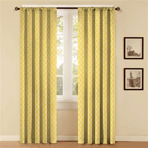 curtains at lowes shop style selections style selections 84 in l yellow
