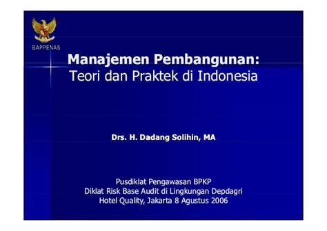 Ilmu Seni Teori Dan Praktek manajemen pembangunan teori dan praktek di indonesia