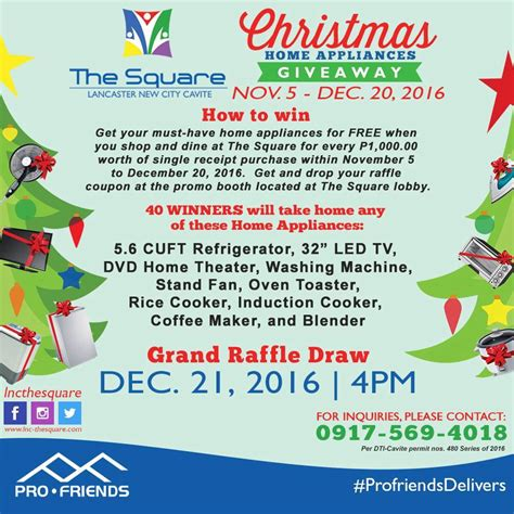 Appliance Giveaway 2016 - the square christmas home appliances giveaway