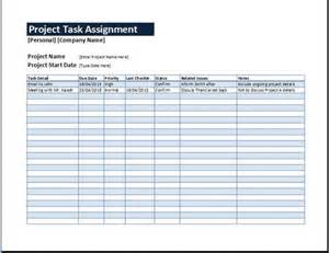 project management sheet template project task assignment sheet sourceforge net