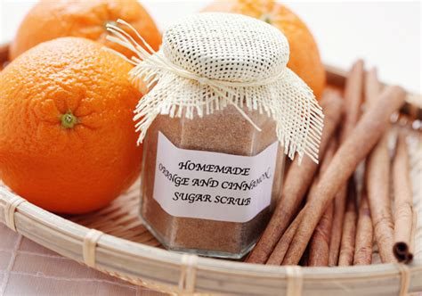 Handmade Spa Products - orange cinnamon sugar scrub 171 inhabitat green design