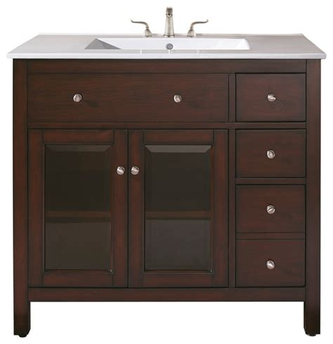 Bathroom Vanities Combo 36 In Vanity Combo Contemporary Bathroom Vanities And Sink Consoles By Avanity Corp