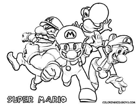 mario coloring pages games super mario color pages super mario bros characters