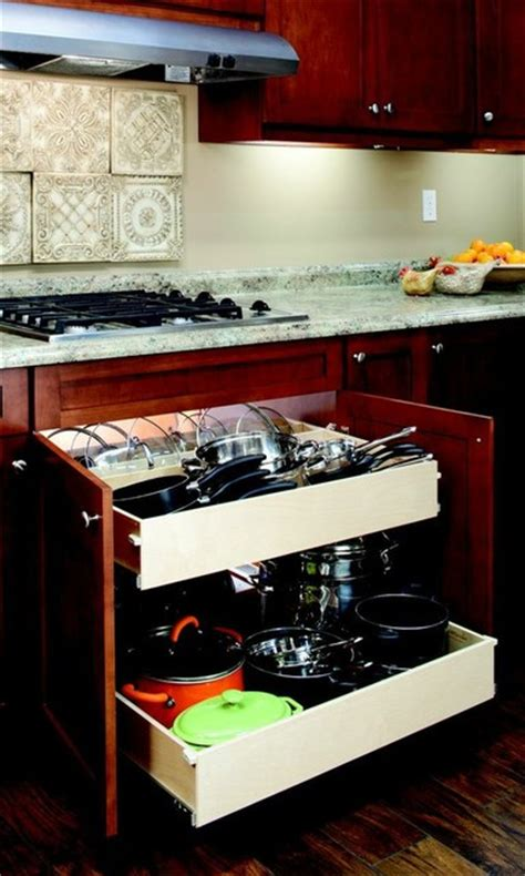 Pull Out Drawers For Pots And Pans by Pull Out Shelves For Your Pots And Pans Kitchen Drawer Organizers Other Metro