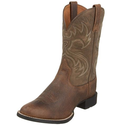 mens western boot ariat mens heritage horseman western boot in brown for