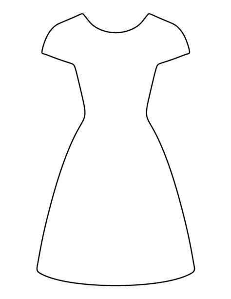 baby dress printable card template dress pattern use the printable outline for crafts