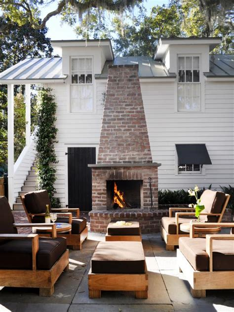 diy brick outdoor fireplace diy outdoor fireplace ideas hgtv