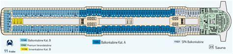 Aktueller Deckplan der Mein Schiff 3