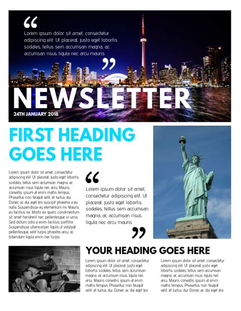 copy newsletter template postermywall