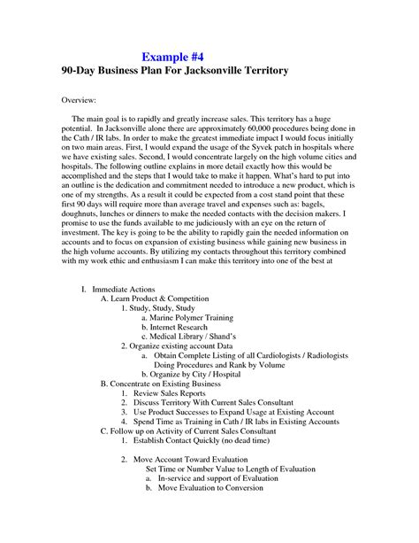 90 Day Business Plan Template For best photos of sle business plan template sle business plan outline template business
