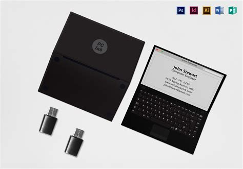 black business card template ai black laptop business card template in psd word