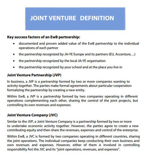 term sheet template for joint venture joint venture term sheet template