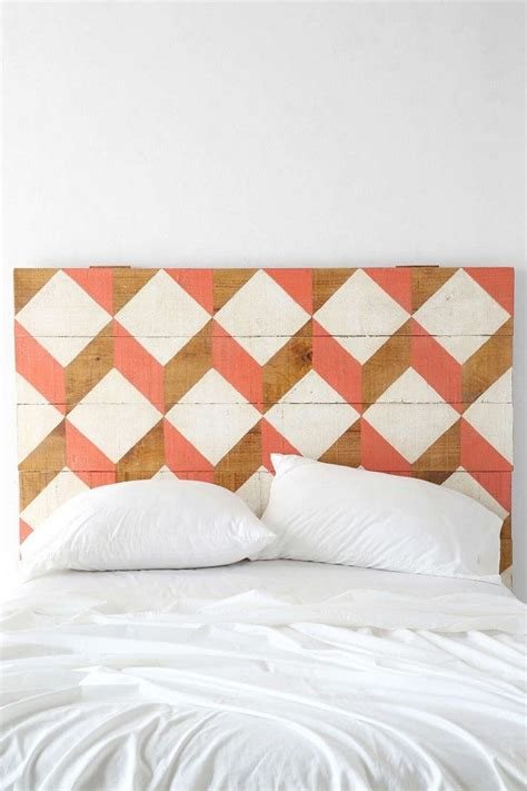 geometric headboard wooden headboards my blue flamingo