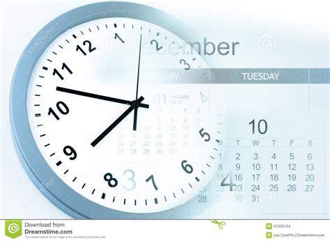 Calendar And Clock Clock And Calendar Stock Photo Image 51345134