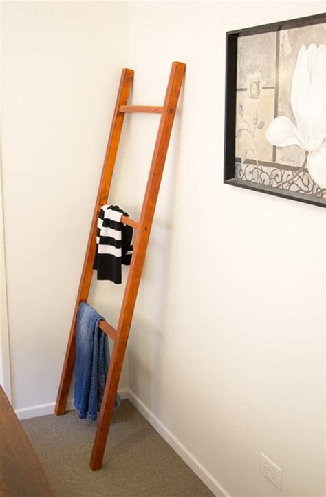 Build A Ladder Rack by How To Make A Diy Clothing Ladder Rack Step By Step