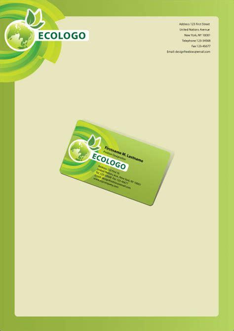 business letterhead illustrator template free illustrator templates green eco friendly business
