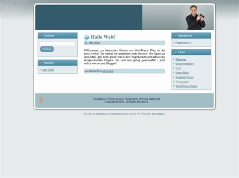 wordpress layout kopieren wordpress theme 003 fema media templateshop modified