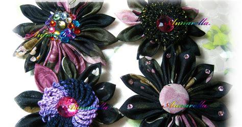 fiori di stoffa kanzashi annarella gioielli i miei kanzashi fiori di stoffa