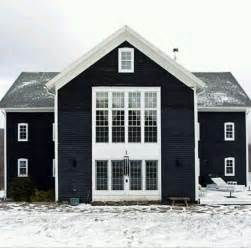 navy blue house white trim home