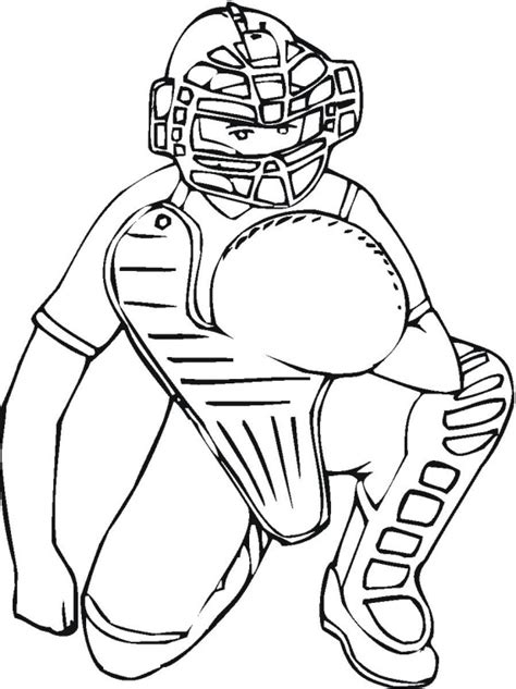 Catcher Coloring Pages ultimate baseball coloring sheets roundup printable