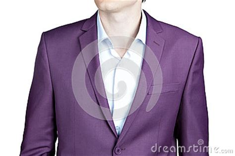 masculine purple close up of male purple jacket suit isolated on white