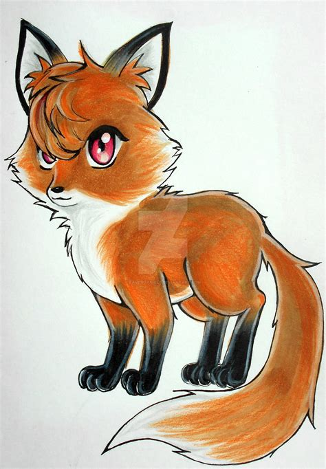 Anime Fox by The Gallery For Gt How To Draw Anime Fox Ears