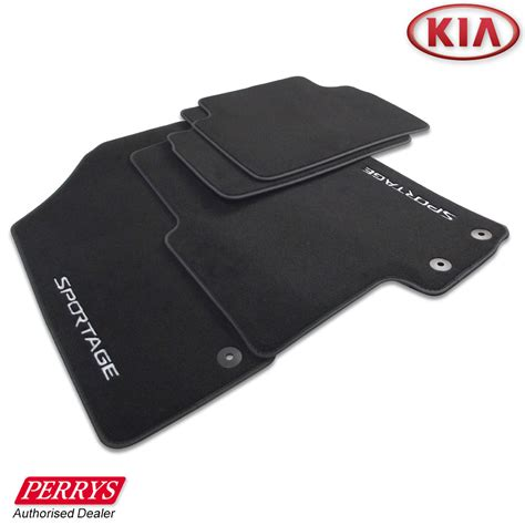 Set Kia kia sportage graphite velour carpet front rear car mats set genuine oe ebay