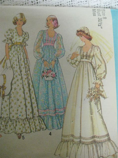 wedding dress pattern making books vintage 70 s simplicity 7389 wedding dress bridal gown